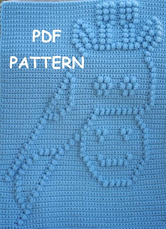 Crochet Pattern - Crochet Baby Blanket  - Baby Snuggle Blanket  - Comical Giraffe Blanket Pattern - Car Seat or Stroller Blanket