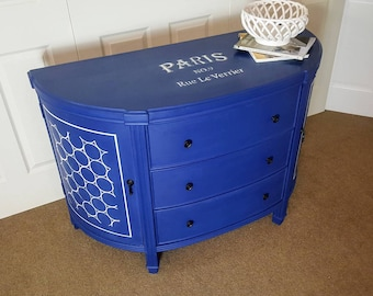 Napoleonic Blue Entry table / dresser / console / accent table