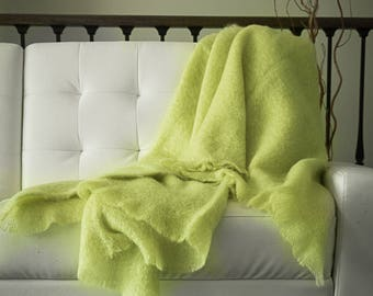 Anniversary gifts for parents   Wedding gift   Gift for couple Mohair throw Throws and blankets Sofa throw Wool blanket Best gift for wife