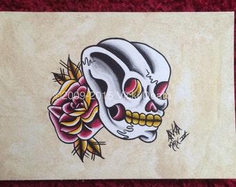 Dead! Original Tattoo Painting