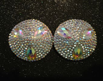 Crystal AB Pasties with Tear Drop stones