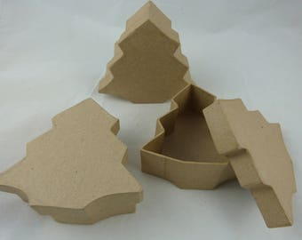 "Set of ""tree"" blank cardboard boxes"