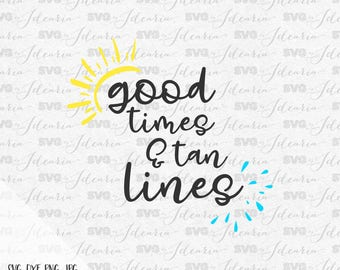 Good times and tan lines svg, summer svg, sunglasses svg, mermaid sunglasses svg, mermaid svg, hello summer, summer 2017, beach svg, dxf