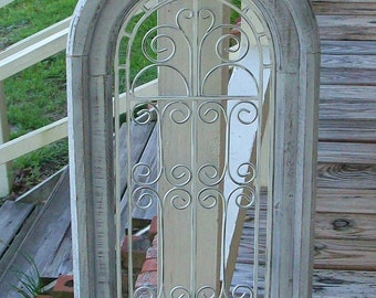 Chippy White Window Wall Piece