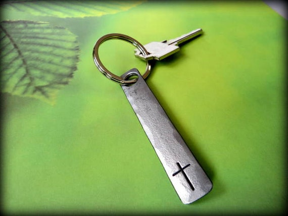 CROSS KEYCHAIN - Personalized Option Available - Christian - Easter - Confirmation - First Communion - Baptism - Unisex Personalized Gift