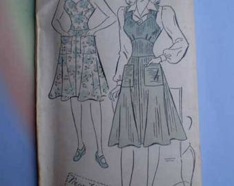 Vintage 40s Sweetheart Jumper with Puff Sleeve Blouse Unused Pattern 38 Bust