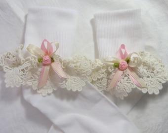 Ruffled Socks Baby socks Girls Socks Girls Ruffled Socks Toddler Socks Frilly Socks Infant Socks Christening Socks Wedding Socks Baby Gift