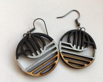 Geometric Circle Shaped Earrings