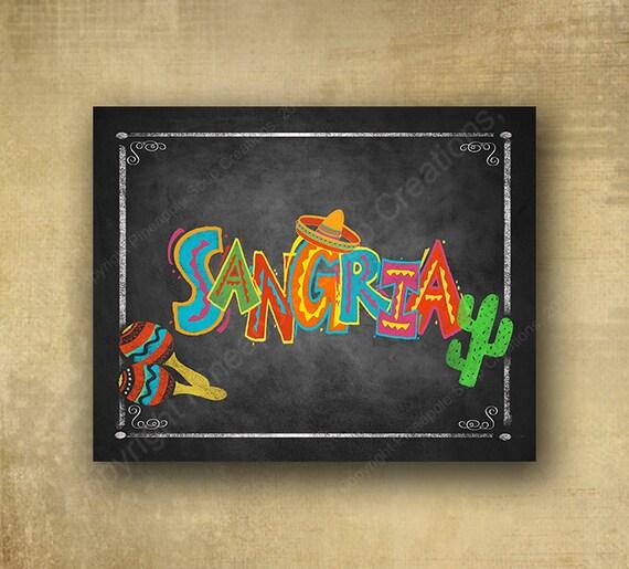 Fiesta Sangria Printed Sign