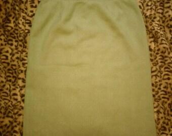 Free Shipping Vintage Pistachio Green Skirt