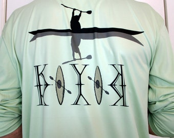 Kayaker solar t-shirt UPF +50, lightweight and comfortable with PURE-Tech® moisture wicking 4oz 100% Microfiber. .