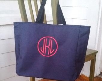 Monogram tote bag, personalized tote bag, bridesmaids gift, monogrammed tote