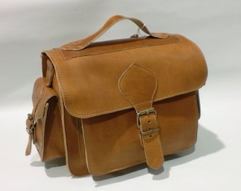 FREE SHIPPING-Leather Bag,Natural Leather Bag,Leather Camera Bag,Greek Leather Bag,Handmade Leather Bag