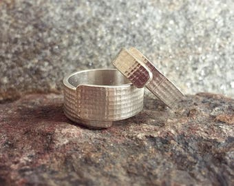 Linen Rings: Ethical Sterling Silver