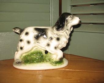 Relpo dog vintage Relpo planter. Spaniel, vase, pencil holder. Ceramic.