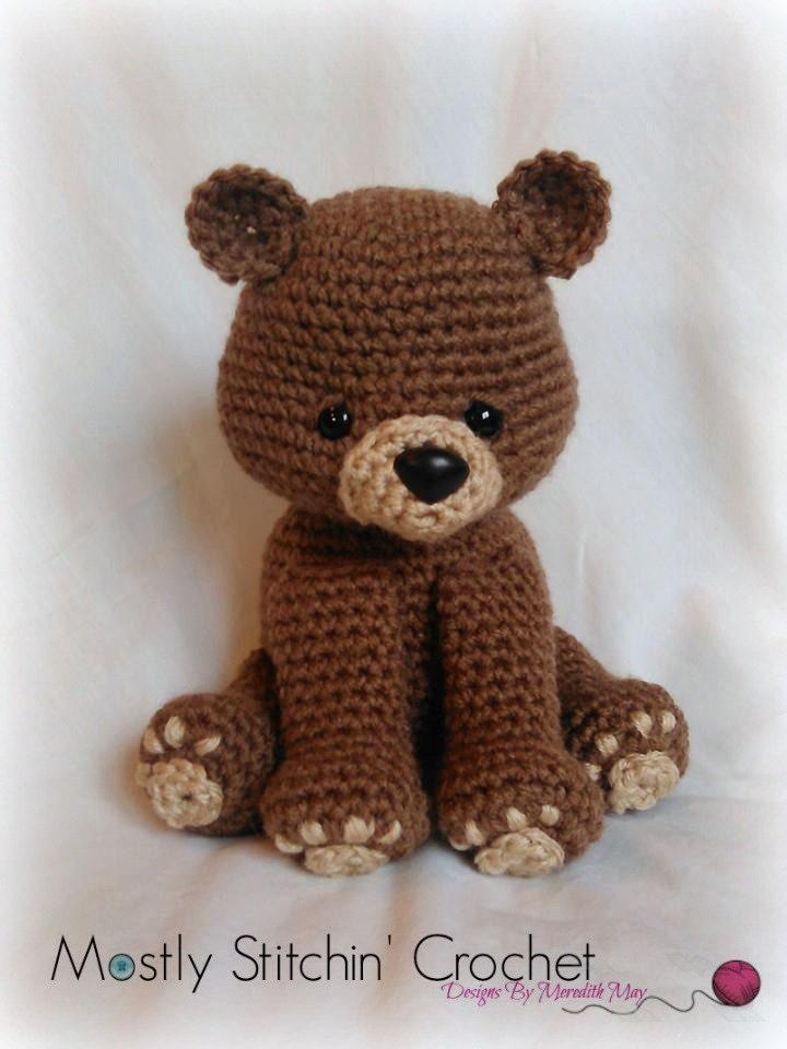 Bear crochet pattern pdf black bear brown bear polar bear from this is a digital file dt1010fo