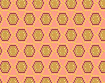 Folk Vision Salmon (RHA-405) - RHAPSODIA - Pat Bravo for Art Gallery Fabrics - By the Yard