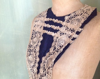 1890s antique modesty panel jabot bodice panel