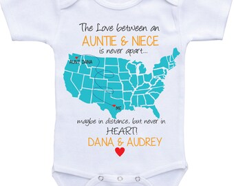 Personalized baby gifts state map onesies grandpa onsie personalized country state map aunt onesies aunt and niecenephew auntie onesie aunt baby clothes i love my aunt shirt custom baby gifts negle Gallery