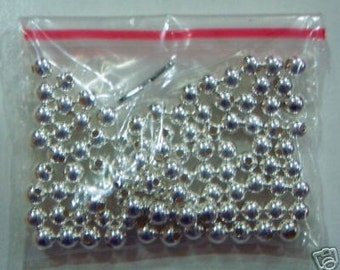 925 Pure Sterling Silver Bali Beads Round 100p Size 3mm Jewelry making findings, parts, loose beads