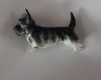 Pfeffer Porcelain Scottie / Schnauzer Dog / Germany Porcelain / Vintage Pfeffer dog