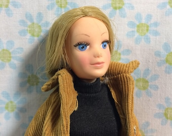 Vintage The World of Love Doll with Original Outfit Hasbro 1970s Girls Toys Hippy Love Doll Corduroy Blonde Blue Eyes