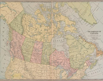 Poster, Many Sizes Available; Map Of Canada 1927
