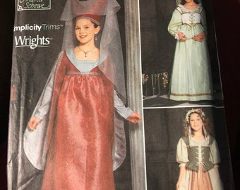 3 Costume patterns - sold separately - Simplicity 9836 or 9229 or McCall's 8435 - uncut