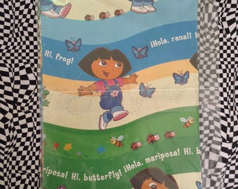 Dora the Explorer~Vintage~NOS~American Greetings~Gift Wrap~Nickelodeon~Nick Jr~Dora Birthday