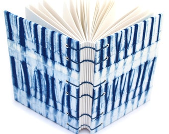 Shibori Journal 2 - Unlined Journal - Coptic Stitch - Lay Flat Journal - Gift for a Writer - 160 Pages - handmade by Ruth Bleakley