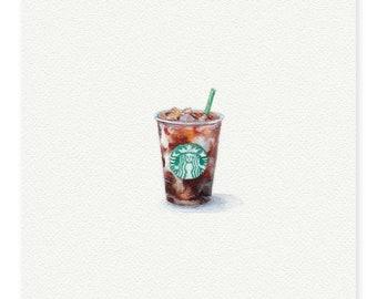 Starbucks original painting with frame