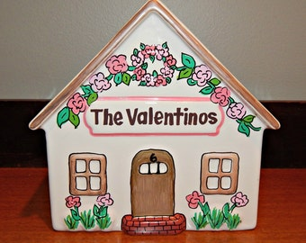 Personalized Ceramic House Mail Holder