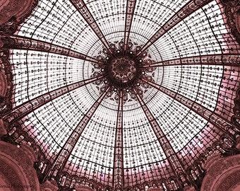 Paris Photography, Galeries Lafayette Paris Art Nouveau, Stained Glass Ceiling Galeries Lafayette, Paris Architecture,Paris Abstract Ceiling
