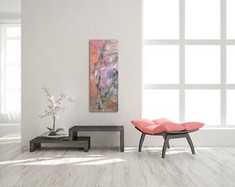Pink Orange Painting, Oil Painting Original, Abstract Canvas Painting, Modern Oil Painting, Blue Painting, Abstract Oil Painting, Canvas Art