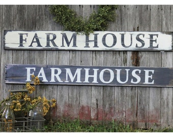 Handpainted Rustic Sign, Farm House