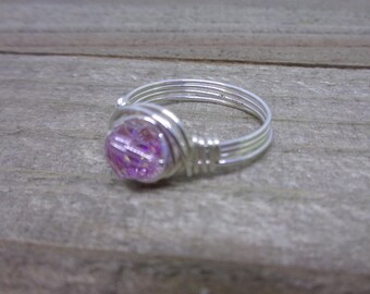 October Birthstone Ring | Crystal Ring | Swarovski Crystal Ring | Childs Ring | Pinkie Ring | Pinky Ring Woman | Kids Ring