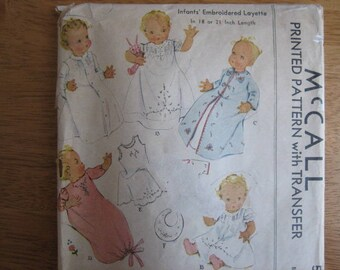 McCALL Pattern 537 Infants' Embroidered Layette with Transfer      circa 1937