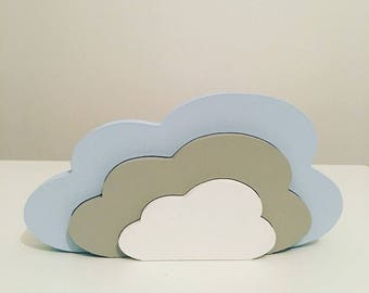 Stacking Wooden Cloud Decor Nursery Decor
