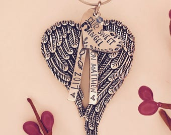 Angel wing ornament • Angel baby • Mommy of an Angel • loss of a loved one • christmas in heaven • memorial ornament