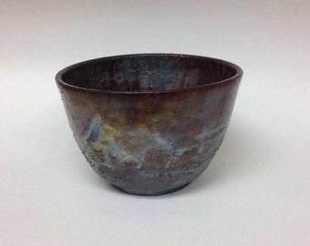 Handmade ceramic Raku bowl, Raku bowl, Raku, ceramic bowl, wheel thrown bowl, ceramics