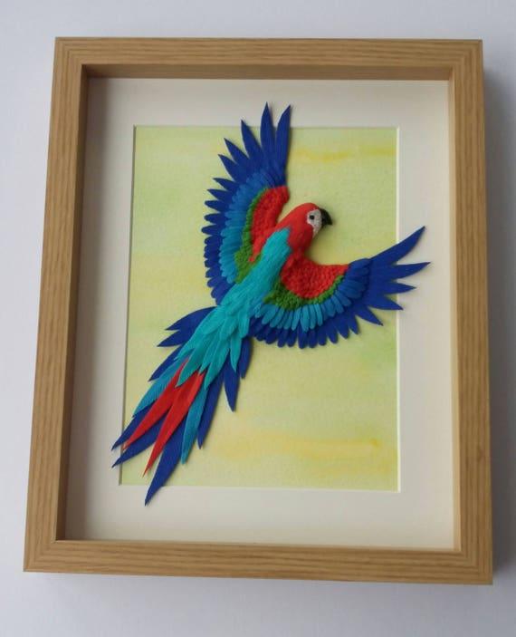 Scarlet Macaw Parrot Wall Art Scarlet Macaw art Macaw