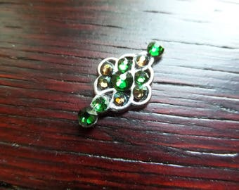 Green Crystal Bindi for Tribal Belly Dance, Middle Eastern Costume Accessory