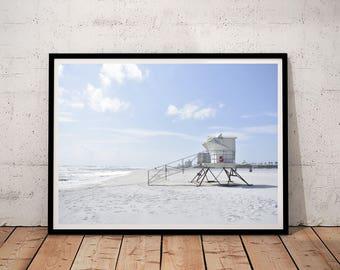 beach printable, beach print, beach decor, lifeguard print, printable art, art print, printable wall art, digital prints, downloadable print