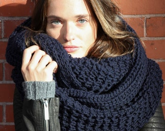 Knitting Loop Scarf : Infinity scarf chunky knit winter shawl loop