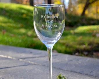 8 Glasses For 8 Nights Wine Glass