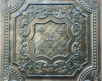 ceiling tiles faux finished aged copper patina color PL04