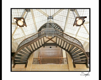 The Rookery Staircase 6 Fine Art Photograph, Wall Art, Room Decor, Chicago Image, Gift, Staircase Print, Building Photograph, Architecture