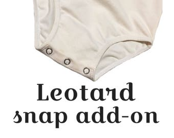Metal Snap add-on for Leotards and rompers (leotard snaps,romper snaps)