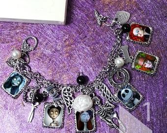 Tim Burton - The Nightmare Before Christmas Corpse Bride Bracelet & Necklace
