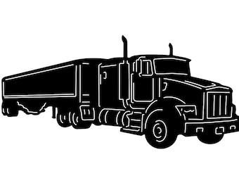 Tractor trailer, Vinyl window decal,  stickers , wholesale decal, wholesale sticker, bulk,  wall decor, big rig, 18 wheeler, semi truck,